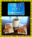 D9-14 Police with Coffee and Donuts