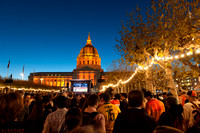 Civic Center Plaza the Night of the World Series Giants Win